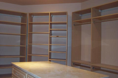 Picture of a custom California Closet